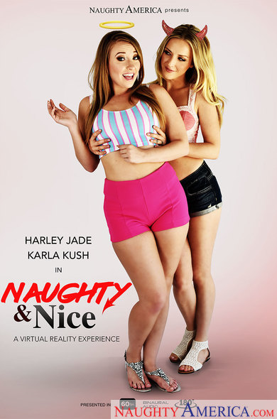 Harley Jade, Karla Kush in Naughty & Nice VR Porn