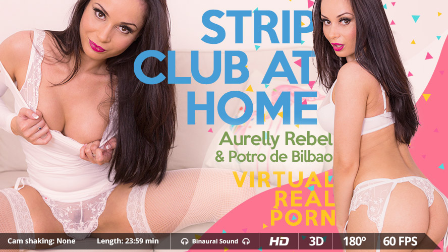Strip club at home VR Porn