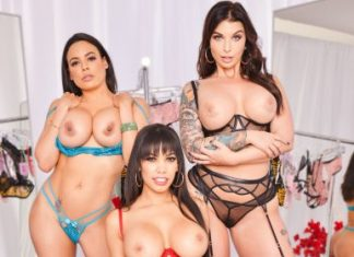 "Gia Milana , Luna Star , Ivy LeBelle in ""The Dressing Room 3"""
