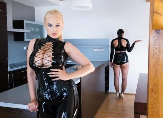 Endowed Mistress with Busty Slave