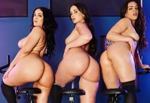 "Gia Paige, Kimber Woods, Violet Smith in ""The GYM 3: Big Butt Workout"""