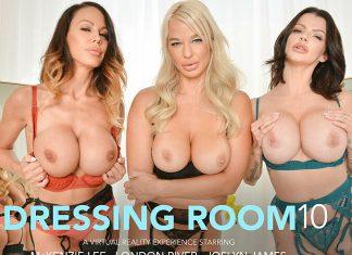 """Joslyn James, London River, McKenzie Lee in """"The Dressing Room 10"""""""